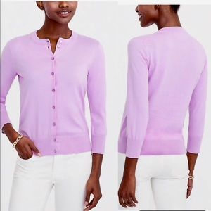 J. Crew Sweaters - JCrew The Clare Cotton Cardigan Orchid Pink M
